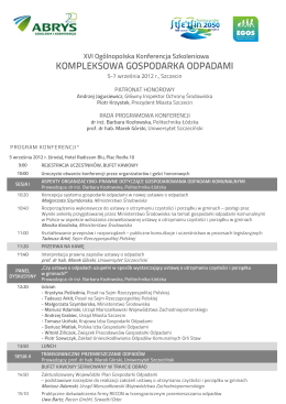 Program Kompleksowa gospodarka odpadami 2012
