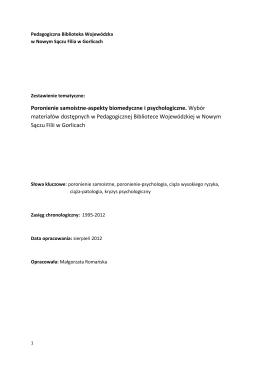 Poronienia samoistne-aspekty biomedyczne i psycholog.