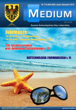 Lipiec-Sierpień 2012 - Medium - Dolnośląska Izba Lekarska we