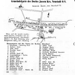 Gemeindekarte des Dories Jassen Krs. Nenstadt 0/S.