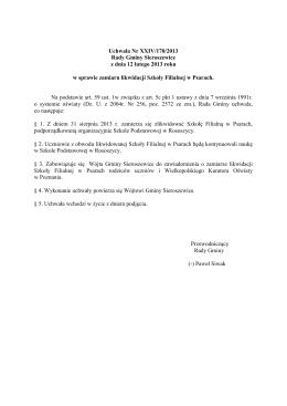 Uchwała Nr XXIV/170/2013 Rady Gminy Sieroszewice z dnia 12