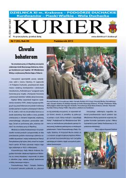 Październik 2013 - Dzielnica XI Miasta Krakowa