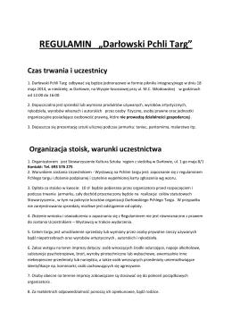 """REGULAMIN """"Darłowski Pchli Targ"""""""