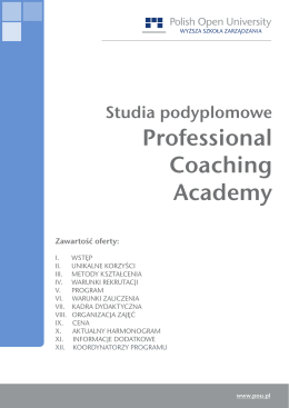 Professional Coaching Academy