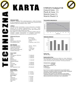 Karta techniczna