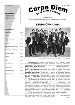 Nr 1 (105)2014.pdf - Liceum Ogólnokształcące w Łochowie