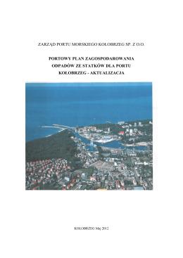zarząd portu morskiego kołobrzeg sp. z oo portowy plan