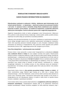 rewolucyjne standardy obsługi klienta sukces polskich informatyków