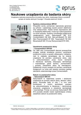 Naukowe urządzenia do badania skóry
