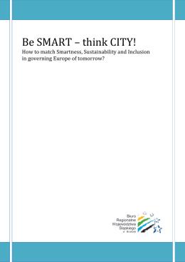 think CITY! - Biuro Regionalne Województwa Śląskiego w Brukseli