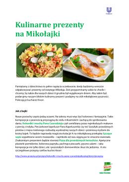 Kulinarne prezenty na Mikolajki