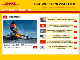 dgf world newsletter - DHL Global Forwarding