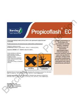 Propicoflash® EC Label