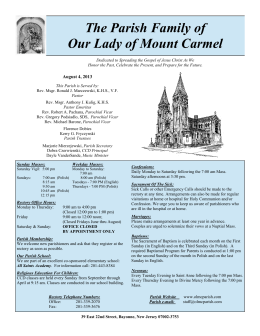 The Parish Family of Our Lady of Mount Carmel