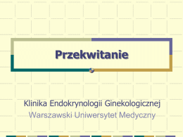 Okres przekwitania u kobiet. - Warszawski Uniwersytet Medyczny