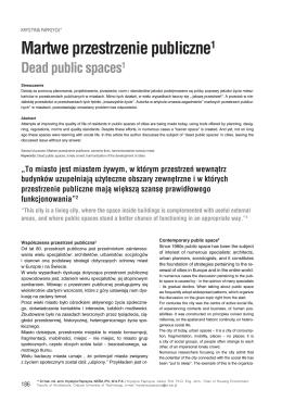 Martwe przestrzenie publiczne1