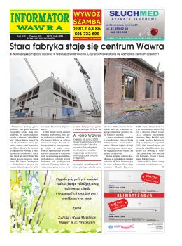 Stara fabryka staje się centrum Wawra