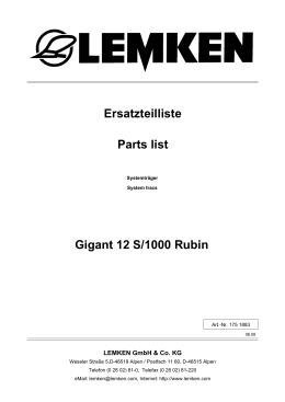 Gigant 12 S/1000 Rubin