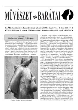 2013 / 5. szám - Művészetbarátok Egyesülete