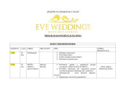 plan konferencji ślubnej