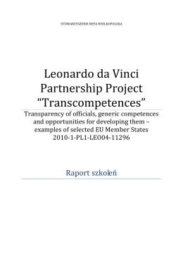 Raport na temat szkoleń dot. kompetenecji ogólnych adresowanych