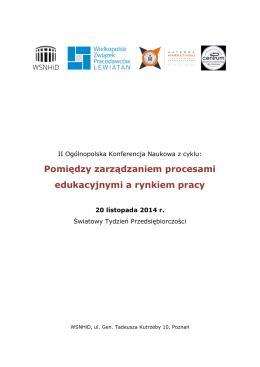 Pomiędzy zarządzaniem procesami edukacyjnymi a rynkiem pracy