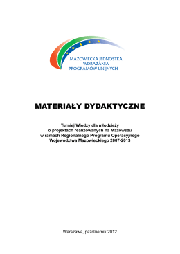 materiały dydaktyczne - Fan Mazowia fan.mazowia.eu