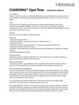 CHARISMA® Opal flow INSTRUKCJA OBSŁUGI
