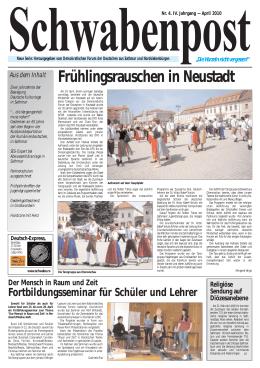 Frühlingsrauschen in Neustadt - Demokratisches Forum der