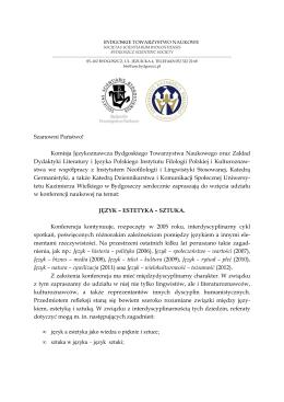 załączniku - Instytut Filologii Germańskiej Uniwersytetu
