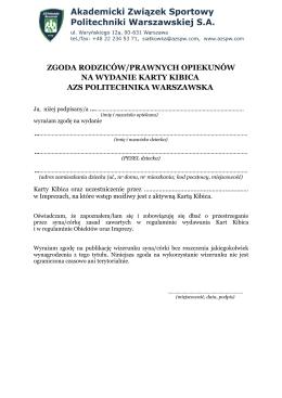 Zgodza rodziców - AZS Politechnika Warszawska