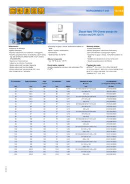 Złącze typu TRI-Clamp pasuje do króćca wg DIN 32676 - Air-Com
