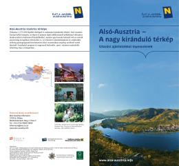 Alsó-Ausztria – A nagy kiránduló térkép