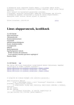 Linux alapparancsok kezdőknek by Letix