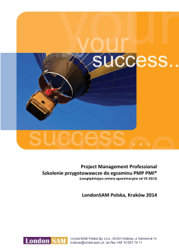 PMP według metodologii PMI