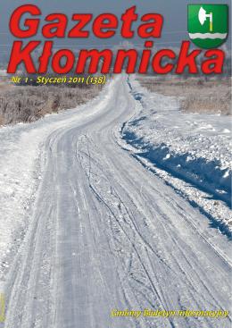 Gminny Biuletyn Informacyjny Nr 1 - Styczeń 2011