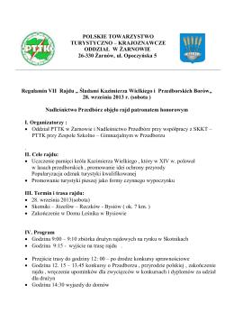 tutaj - Oddział PTTK Żarnów