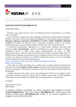 2013. szeptember - A Magyar-Japán Baráti Társaság honlapja