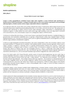 Bookline sajtóközlemény 2014. július 4. Vavyan Fable és