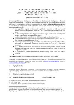 Pályázati Útmutató - Civil Információs Portál