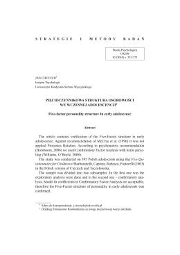 Pełny tekst - Studia Psychologica