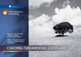 COACHING FUNDAMENTALS CERTIFICATE® – CFC®