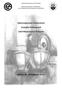 program - Szkoła Muzyczna I st. Nr 1 im. Stanisława Wiechowicza w