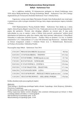 XXII Międzynarodowy Wyścig Kolarski Bałtyk – Karkonosze Tour