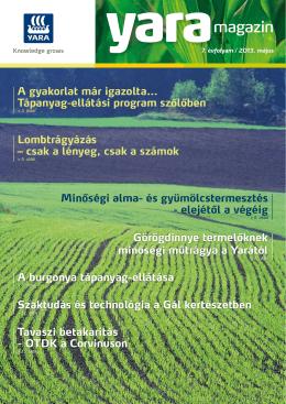 Yara Magazin 2013. április