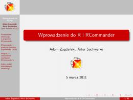 Wprowadzenie do R i RCommander