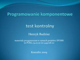 Programowanie komponentowe - test.pdf - kik