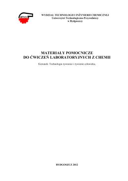 Materiały TŻiŻCz - Wydział Technologii i Inżynierii Chemicznej