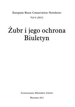 Bołbot M., Raczyński J. Rejestracja rodowodowa żubrów jako