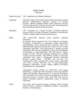 Szőke Zoltán - Magyar Országos Levéltár